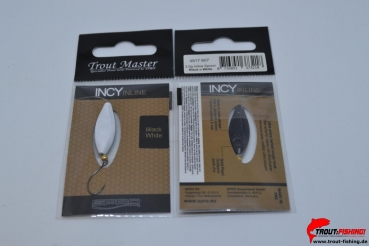 Trout Master Incy Inline Spoon 3,0g Black n White 607