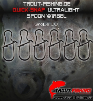 Trout-Fishing.de Quick-Snap ultralight Spoon Wirbel Gr.00/ 10Kg